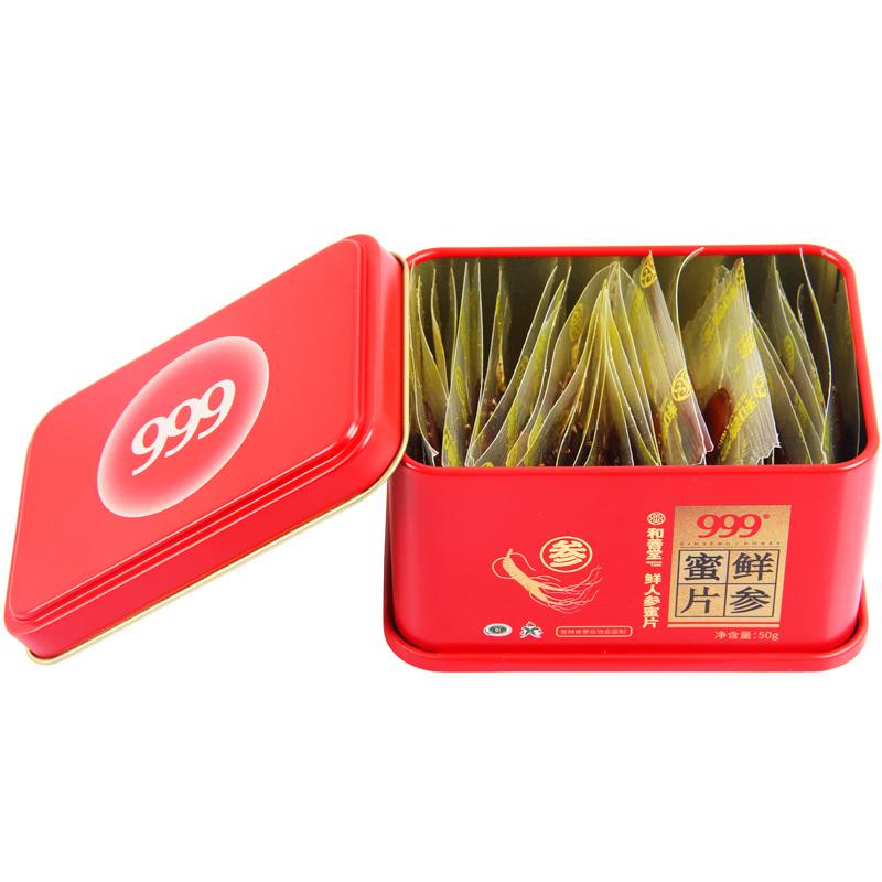 999  鲜人参蜜片  50g*3小盒/盒